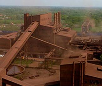 image of serbia steel mill